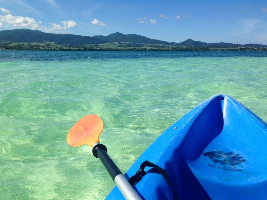 guadeloupe, kayak, basse terre, lagon