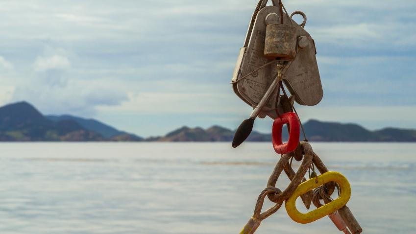 les saintes, guadeloupe, en bateau