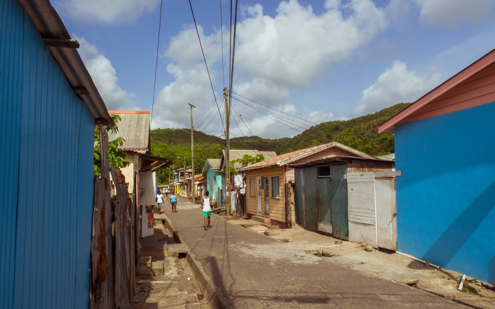 anse la raye, sainte lucie, photographie, village, fish party