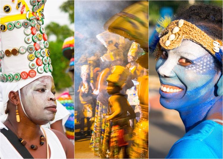 Ce n'est pas mon premier carnaval sur l'île, mais je suis sûre maintenant qu'il a des couleurs et des sonorités différentes et uniques ici...