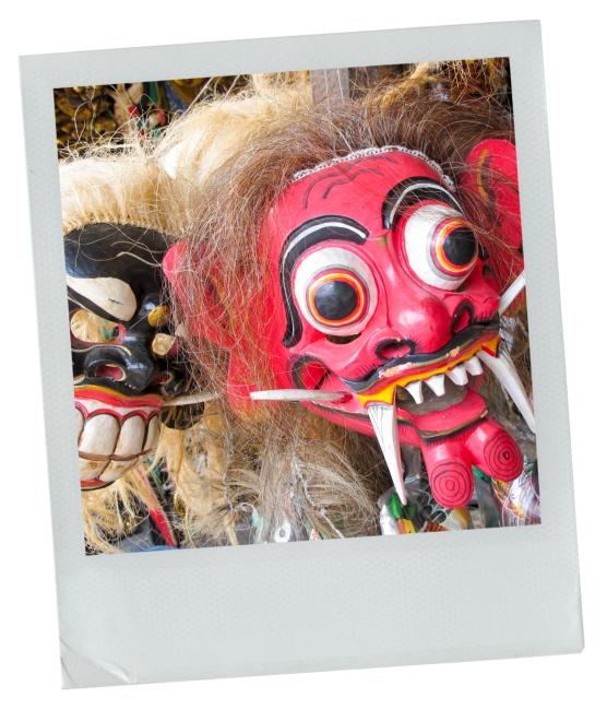 masque, bali, indonésie