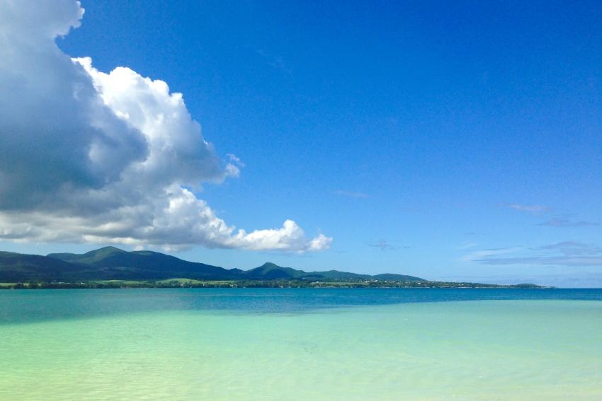 îlet blanc, guadeloupe, lagon