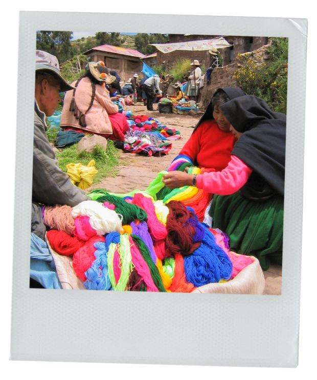 marché, taquilé, lac titicaca, pérou