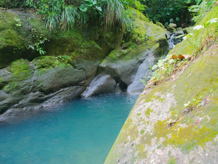 guadeloupe, bassin bleu, gourbeyre, basse terre