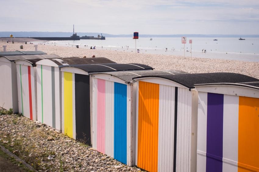 le havre, un été au havre, normandie, perret, cabanes de plage, volcan, container