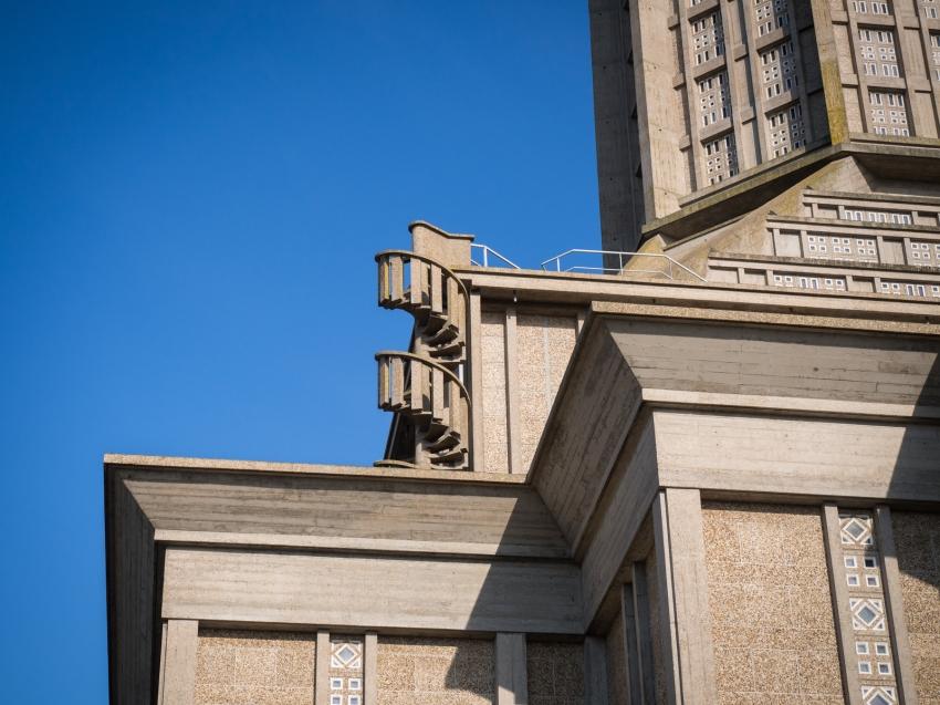 le havre, perret, église saint joseph, un été au havre, normandie