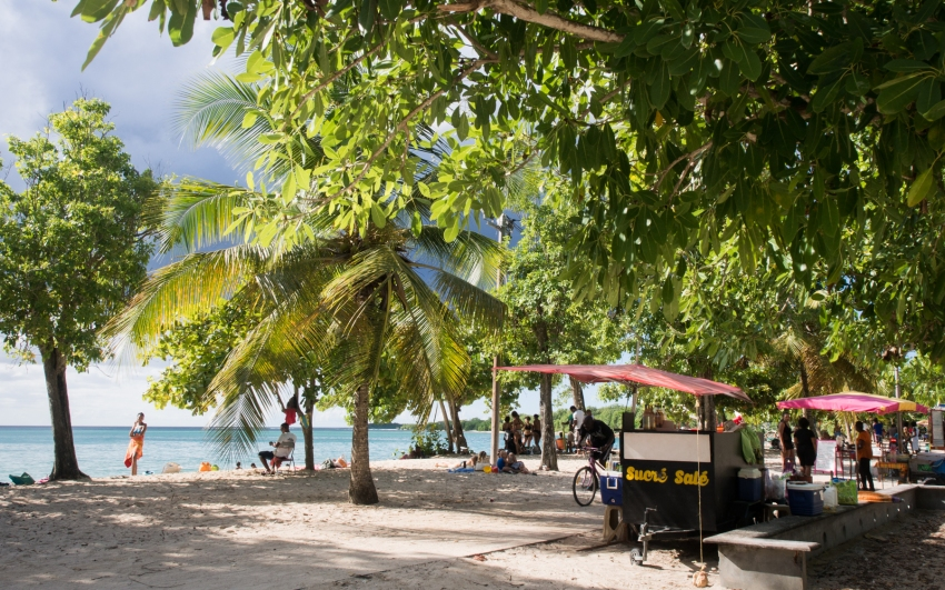 guadeloupe, couleur, grande anse, port louis, cluny