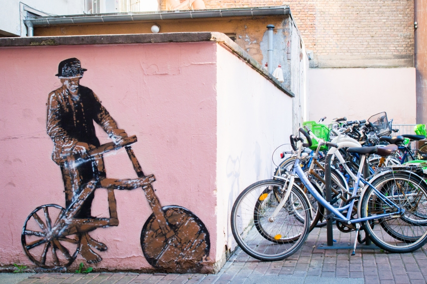 strasbourg, alsace, vélo, street