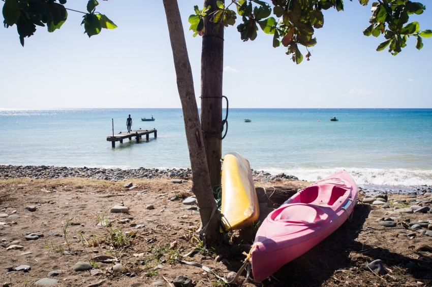 pointe noire, plage caraibes, cyclone, Guadeloupe, kayak